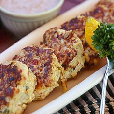 30 Favorite Side Dishes | Artichoke Cakes with Cajun Rémoulade | CoastalLiving.com I have this cookbook and have made this several times and everyone loves them. Good substitute for crab cakes and most people think it is crab anyway