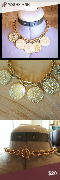 Vintage Anne Klein Gold Lion Necklace This is a great vintage 1970s era Anne Klein necklace. It's gold with lion stamped medallions. In excellent condition.   Comes from a smoke free home! I always ship same or next day :) Anne Klein Jewelry Necklaces