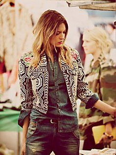 FP New Romantics Geometric Embroidered Jacket- Free People has some good styling right now and love this jacket!