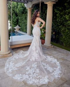 Style 2447 Kimberly | Fit and Flare Floral Lace Romantic Wedding Dress by Casablanca Bridal | Casablanca Bridal Wedding Dress Pictures, Top Wedding Dresses, Fit And Flare Wedding Dress, Wedding Dress Shopping, Bridal Dresses, Wedding Gowns, Blush Bridal, White Bridal, Bride Look