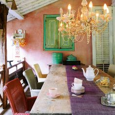 love the colors interior home design room design house design House Design, Room, Room Design, House, Home, House Styles, House Interior, Interior Design, Chic Dining Room