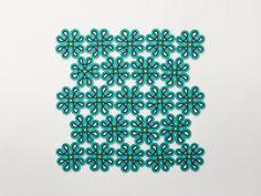 Tapete feito à mão para exterior QUADRIFOGLIO by Paola Lenti design Alessandra Comi