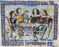 A 16 Outubro celebra-se o Dia Mundial da Alimentação, que marca a fundação da FAO - Organização das Nações Unidas para a Alimentação e  Agricultura, em 1945. A efeméride foi estabelecida em Novembro de 1979 pelos países membros na 20ª Conferência daquela organização.  Painel de Azulejos do séc. XVII.  Palácio Fronteira, Lisboa.