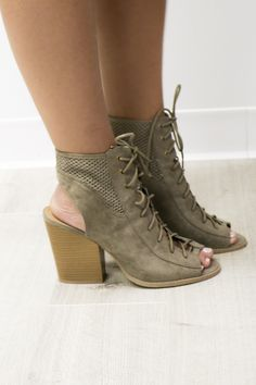 4f9d31576419 Falling for You Taupe Suede Lace Up Booties