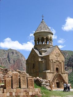 Surb Astvatsatsin (Holy Mother of God) Church at Noravank Monastery near Yeghegnadzor, Armenia is also called also called Burtelashen, after the architect and sculptor of the building, was built in the early 14th century.  It is especially known for its fine sculptural detail.  by Arlen Dilsizian