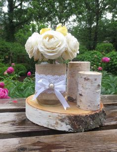 birch tree and candle centerpieces - Google Search