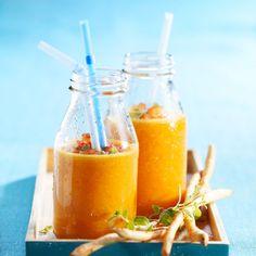 Découvrez la recette Gaspacho de melon sur cuisineactuelle.fr.