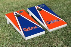 Florida UF Gators Cornhole Game Set Triangle Script Version