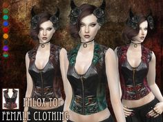 My very first clothing piece for the sims, a steampunk top for females ^_^  Found in TSR Category 'Sims 4 Female Everyday'