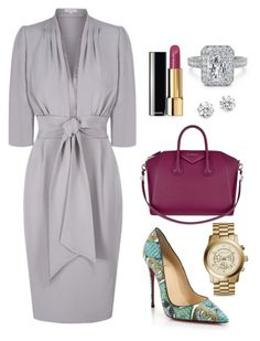 Bring out the lady. by moarbaje on Polyvore featuring Christian Louboutin, Givenchy, Michael Kors, Kenneth Jay Lane and Chanel