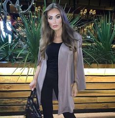 """fdf6d359c37 BeJealous.com on Instagram  """"Friday Night Glam✨💕  rachael tate slays in  our Jessie Long Line Cape Blazer Jacket! now only £12.60 with code  GIMME40👆tap ..."""