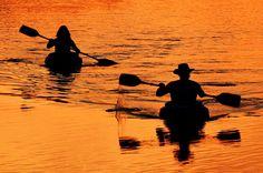 Lake McIntosh   Peachtree City, Ga. Kayakers at sunset.