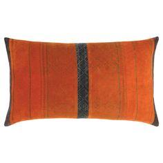 Tatiana Velvet Cushion Cover - Amber/Lapis Stripe