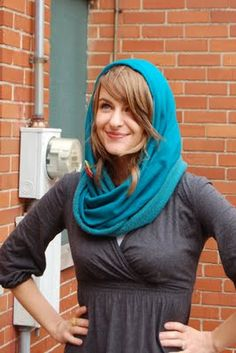 Sew a hooded scarf --- quick and simple