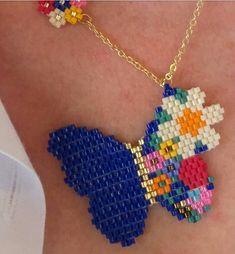 Beaded Jewelry Patterns, Beading Patterns, Friendship Bracelets Designs, Earring Tutorial, Beaded Animals, Bead Jewellery, Bead Crochet, Beading Tutorials, Loom Beading