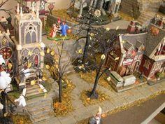 halloween neighborhood display platform dept 56 village