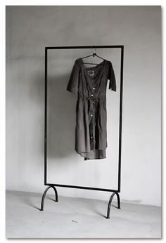 Exposed clothes rack. Rad