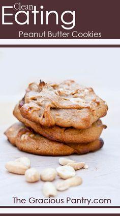 Clean Eating Peanut Butter Cookies plus clean eating chocolate chip cookies