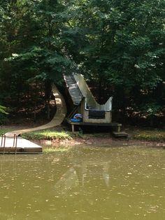 120-ft. homemade water slide. Only In Arkansas!