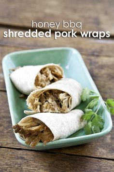 These honey BBQ pork wraps are the perfect quick and easy lunch recipe to try now.