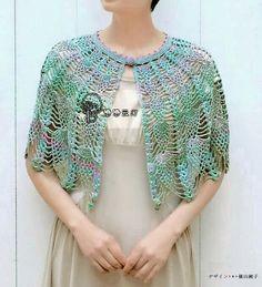 Crochet Shawls Crochet Lace Cape For Women In Summer (Crochet Shawls) - Gorgeous Lace Cape For Summer To Buy The Pattern Crochet Capelet Pattern, Gilet Crochet, Crochet Coat, Crochet Clothes, Crochet Lace, Crochet Designs, Crochet Patterns, Cape Pattern, Bolero