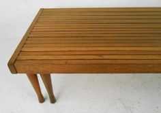 Expanding Slat Table | From a unique collection of antique and modern coffee and cocktail tables at http://www.1stdibs.com/furniture/tables/coffee-tables-cocktail-tables/
