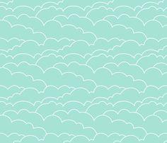 Skyline Clouds - Mint Removable Wallpaper #mintcondition
