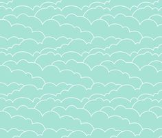 Skyline Clouds - Mint Removable Wallpaper #mintcondition