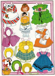 I loved playing with paperdolls  when I was a little girl growing up in Alabama!