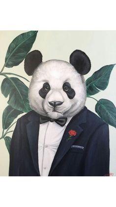 Panda Illustration, Cute Panda Wallpaper, Panda Wallpapers, Panda Love, Bear Art, Pet Clothes, Pet Portraits, Funny Images, Sheep