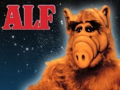 """Gordon Shumway, last known survivor from the planet Melmac, crash-lands his spaceship into the Tanner family's suburban garage. Willie dubs him """"ALF"""", short for Alien Life Form. The Tanners decide to take ALF in as a member of the family. 80 Tv Shows, Old Shows, 90s Childhood, My Childhood Memories, Alf Tv Series, Fraggle Rock, Nerd, 80s Kids, Family Halloween Costumes"""