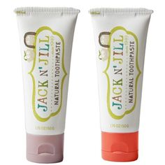 Jack N' Jill Natural Toothpaste, Raspberry & Strawberry, SLS free toothpaste for kids.
