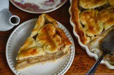 Trufla: Maślano-śmietankowa tarta jabłkowa.