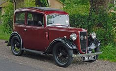 Austin Seven. Pre-war and petrol rationing, Emmy's mother would quite happily whizz about in this.