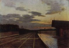Isaac Levitan - The evening after the rain, 1879