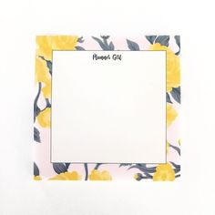 Image of Planner Girl Floral Sticky Notes
