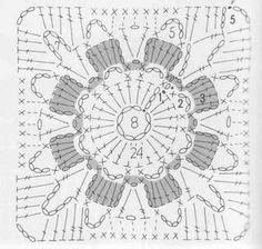 Large crochet square chart