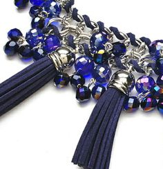 "Rhapsody in blue necklace by Fernando DaSilva featured in ""Bead Talk"" in the March 2014 issue of Bead Style magazine. beadstylemag.com"