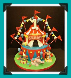 Circus tent with animals by Sugar Buzz Cakes by Carol, via Flickr