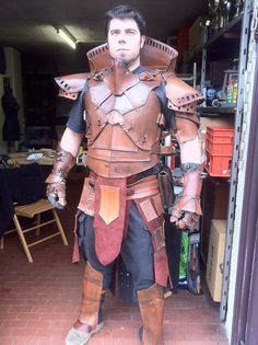 MADE to ORDER Steampunk warrior LEATHER set by Bottegadeisogni