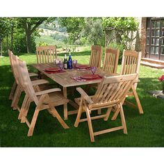Amazonia Teak Genoa Extandable Rectangular 9-piece Dining Set