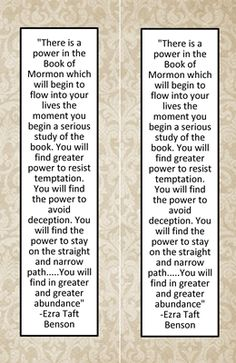 """""""Why do we need the Book of Mormon"""" bookmark handout. Comes in four different styles. Free printable."""
