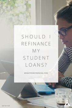 If you're exploring options for your student loan debt, chances are you've come across a lot of information. It can be hard to know what's right for your situation. We're here to help lay it out. Check out why student loan refinancing might be right for you. https://www.brightpeakfinancial.com/advice/debt/should-i-refinance-my-student-loans/