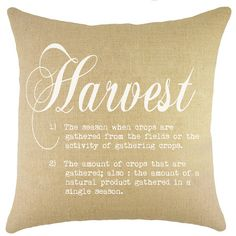 Harvest Dictionary Burlap Pillow  at Joss and Main