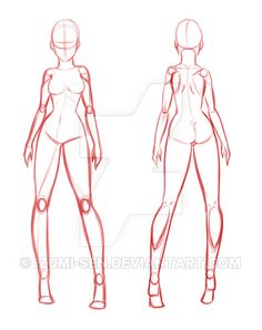 Manga Drawing Please credit me ^^ Pay to Use Full dimension image just for 20 YOU CAN Resell this as your own Use this as a base f. [PTU] Girl Base Front and Back - Back Drawing, Manga Drawing, Anatomy Drawing, Human Base Drawing, Female Drawing Base, Female Base, Body Sketches, Drawing Sketches, Drawing Models