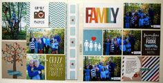 I love this clean PL layout by Cari Locken using Simple Stories products!