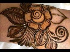 Rose mehndi just simple step Pakistani Henna Designs, Rose Mehndi Designs, Henna Art Designs, Mehndi Designs For Girls, Stylish Mehndi Designs, Mehndi Designs For Fingers, Mehndi Design Photos, Beautiful Mehndi Design, Latest Mehndi Designs