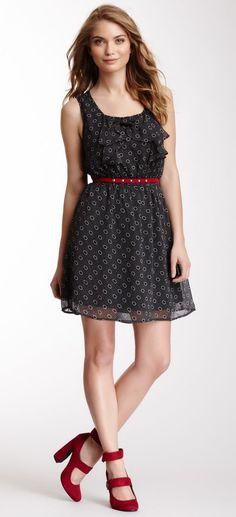 Cascading Ruffle Front Dress