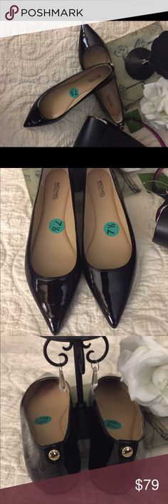 Michael Kors Patent Leather Flats The basic flats that look great with skinny jeans and pencil skirts.  Never worn.🚫NO TRADES.  REASONABLE OFFERS ONLY Michael Kors Shoes Flats & Loafers