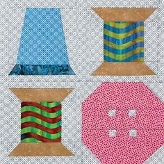 I'm Sew Happy quilt block designed by Diane Harris for Quiltmaker's 100 Blocks Volume 9